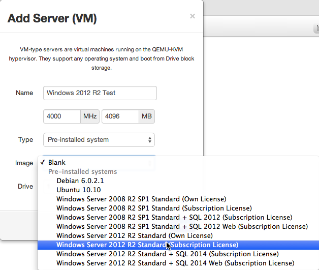 Add a Windows 2012 R2 Server